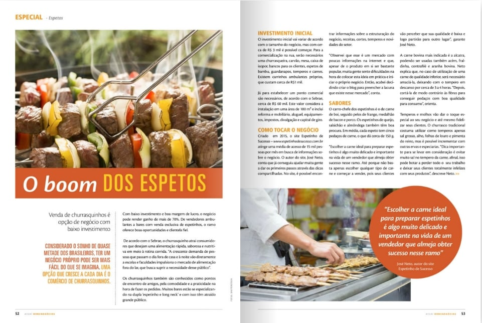 blog espetinho de sucesso na Revista Assaí