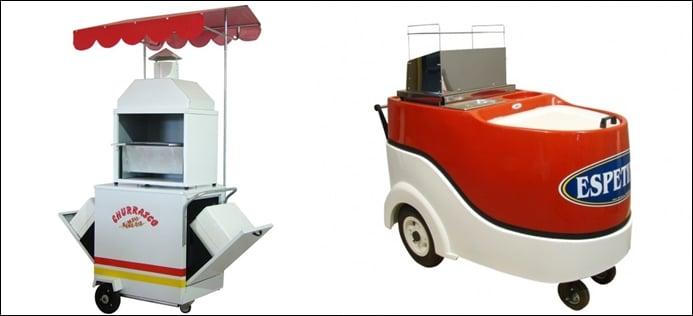 carrinho de espetinho para vender na rua