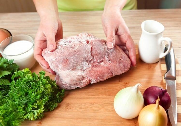 como descongelar carne